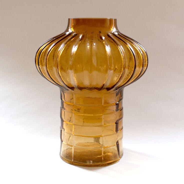 Christer Sjogren; Glass Studio Vase, 1960s.