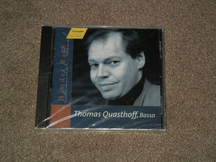 Handel, Bach THOMAS QUASTHOFF, Basso (CD, Music, Classical, Hanssler Classic)  #ChoraleOperaCantata