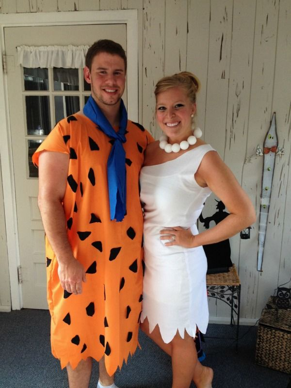 Fred and Wilma Flintstone Halloween Costumes!