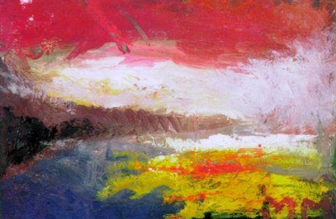 Mauno Markkula: Iltataivas, öljy kankaalle, 22x32 cm - Artnet