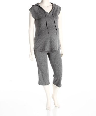 Take a look at this Heather Gray Maternity Hoodie - Women by Dynabelly on #zulily today!