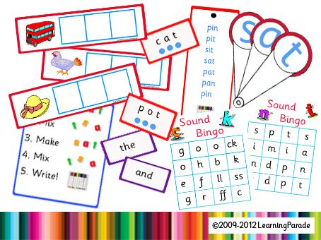 Letters and Sounds Phase 2 Activities