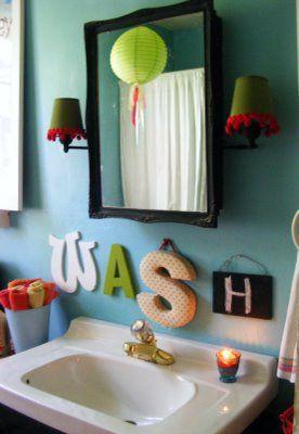 Wash Letters For Kids Bathroom