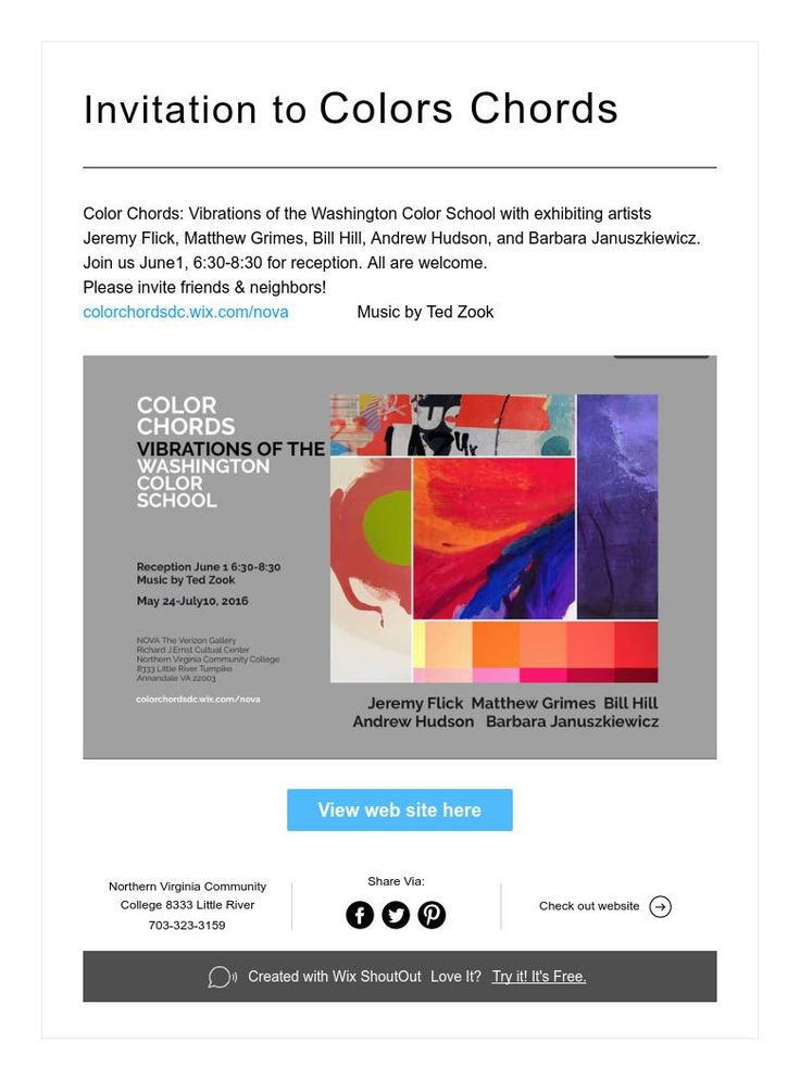 Invitation To Color Chords Vibrations Of The Washington Color School