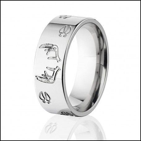 Deer Track Wedding Rings