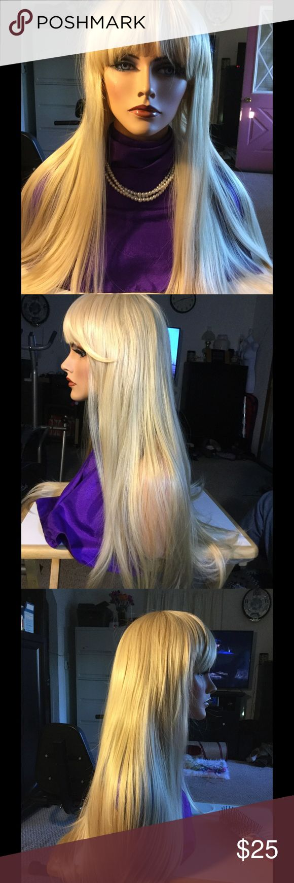 Long blond wig Synthetic Accessories Hair Accessories