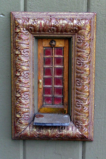 Fairy Door using a picture frame