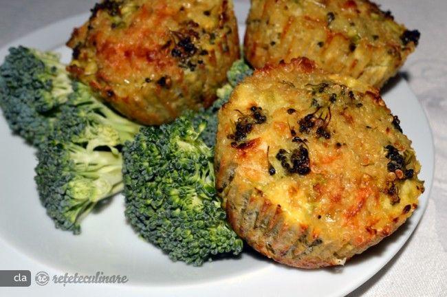 Briose cu Quinoa si Broccoli