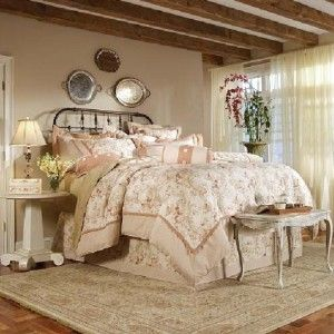 French country comforters blossom manor french country for Dusty rose bedroom ideas