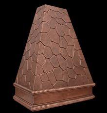 Изготовленный на заказ медный Клобук ряда с кованой меди пестрый камень дизайн фото
