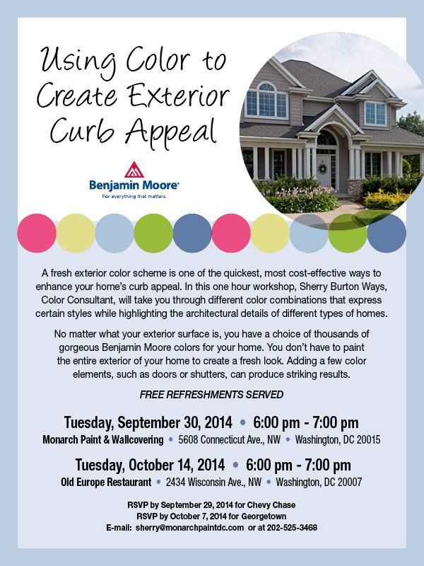 Join us at monarch paint wallcovering september 30th and - Exterior house paint colors 2014 ...