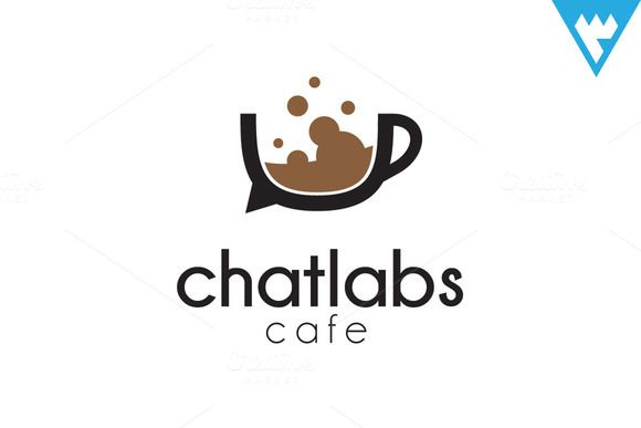 ChatLabs Cafe Logo by wopras on Creative Market