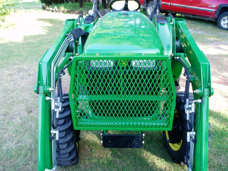 Tractor Grill Guard For Trailer : D  jd e brush guard bucket grille