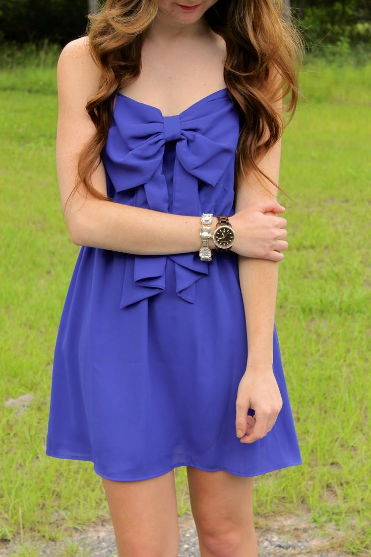 Check out our blogger friend's adorable post! She bought this pretty Royal Blue Bow Dress off http://9thelm.com!