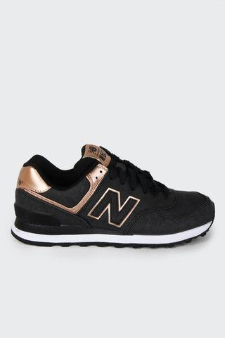 Ob-fucking-sessed ... New Balance, Womens 574 Precious Metal - black | GOOD AS GOLD | NZ
