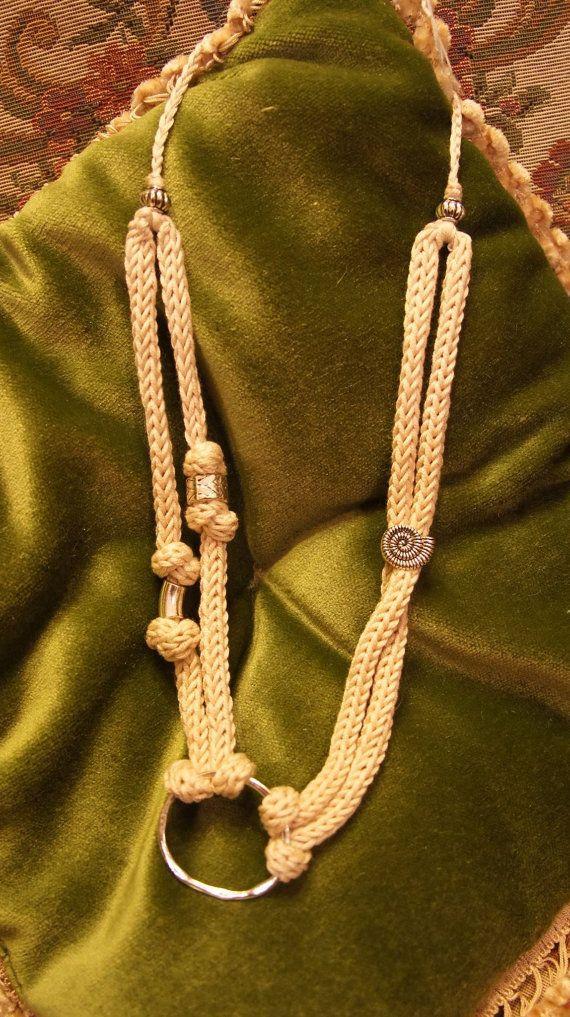 Collana in tubolare di lana/Collana in di AtelierVicoloN6 su Etsy, €19.90