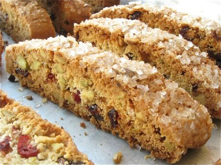 10 good reasons to make biscotti. Starting with crunchy Cherry-Pistachio