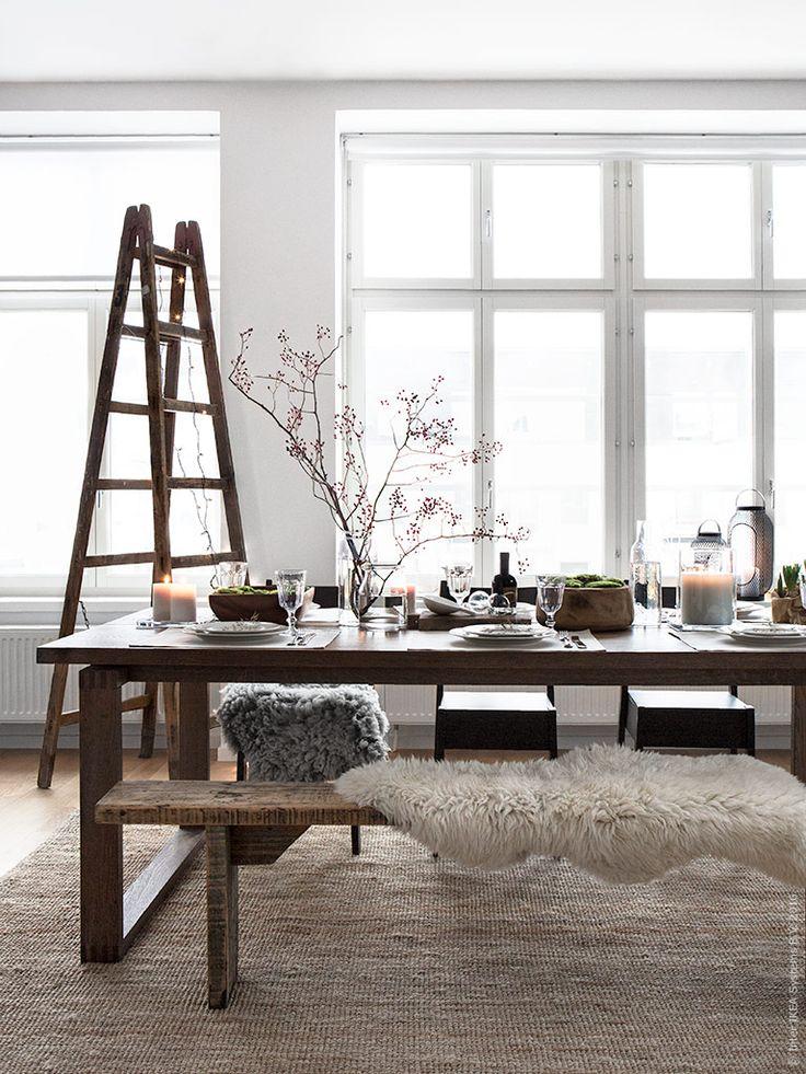 Rustik vinterdukning | IKEA Livet Hemma – inspirerande inredning för hemmet