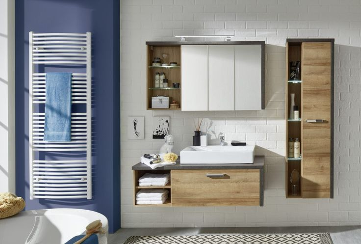 Bay Bathroom Furniture 1693 902 28 Frontal Spiegelschrank Bad Hochschrank Badezimmer Gunstig