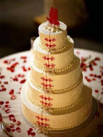 Chinese Wedding cake. via FB by Discover China