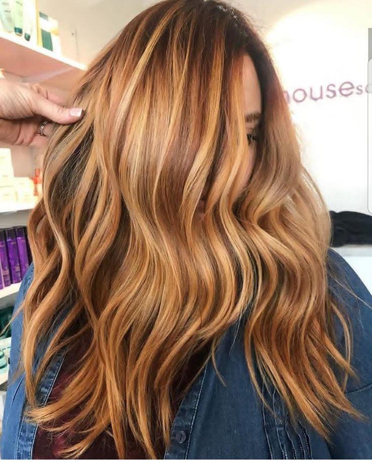 Gorgeous autumn warm toned hair color 😍🔥🍂
