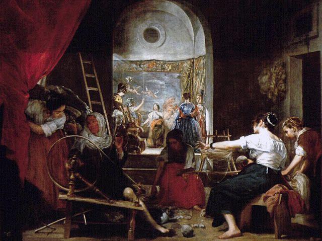 O μύθος της Αράχνης / Εργάτριες χαλιών (1657)