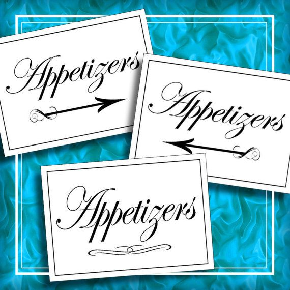 37 best wedding images on pinterest appetizers table wedding diy wedding appetizers table signs wedding tables signs party table digital diy table setting signs printable solutioingenieria Images