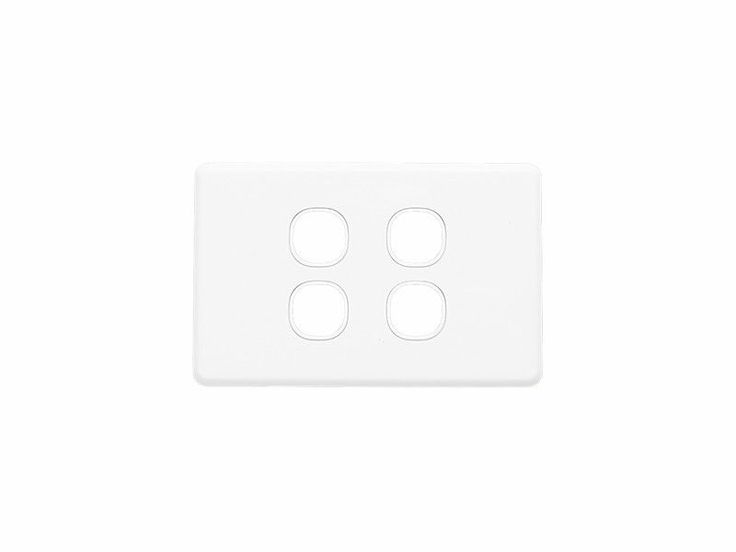 Clipsal Four 4 Gang Wall Plate  Classic Series Quad  Light Switch C2034VH White