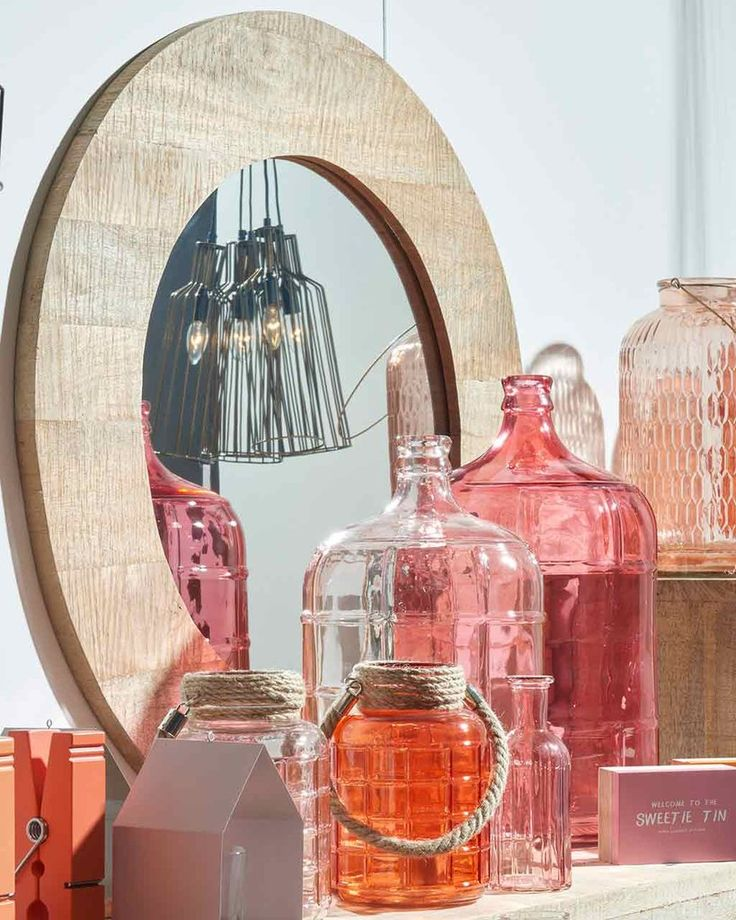 Mango Wood Framed Round Mirror   MirrorDeco   Decorative Mirrors
