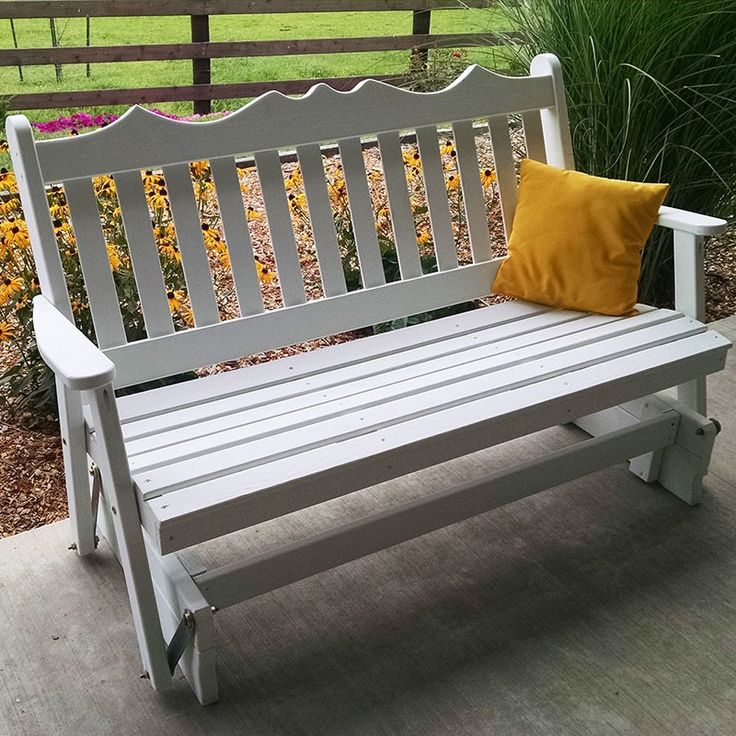 A&L Furniture Co. Royal English Porch Bench Glider - 611, 612, 613