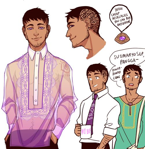 #DRAWINGS AND FEELS, violently Filipino Cecil because yaaaaas #Cecil would be totes the type who'd wear a barong tagalog without the undershirt dont fight me on this.