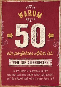 Warum 50 ein perfektes Alter ist: - Doppelkarten - Grafik Werkstatt Bielefeld