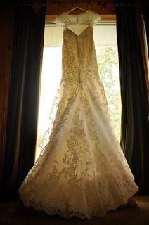 Dress in the window. Mori Lee 1862