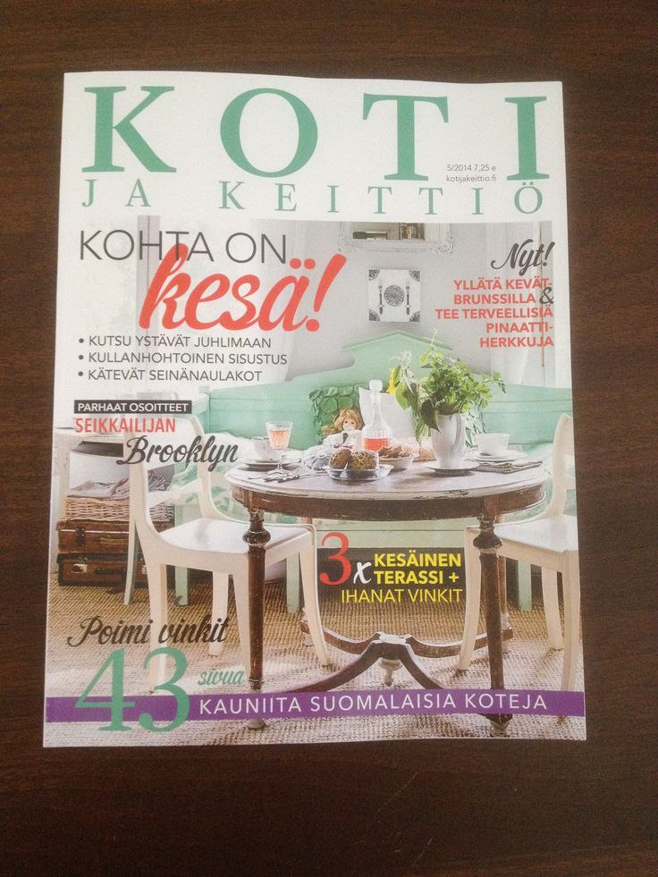 Koti ja keittiö 5/2014 - ihania kesäisiä vinkkejä