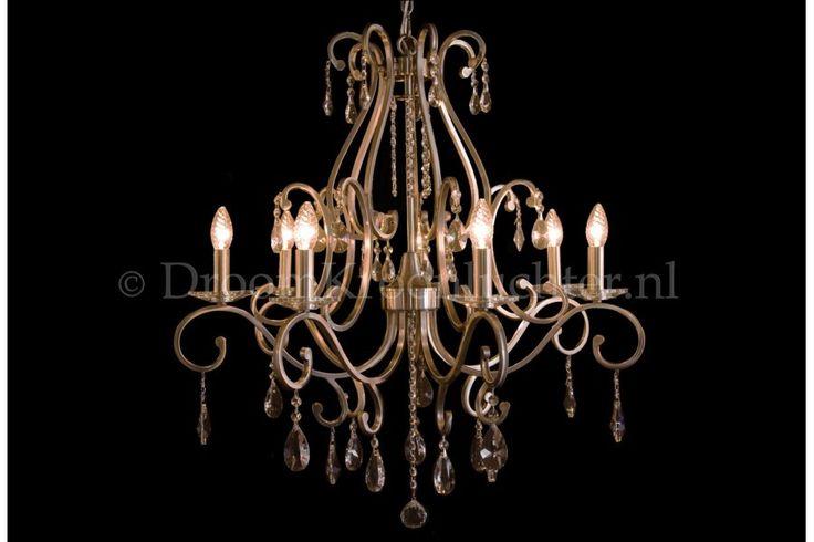 Kristallen Kroonluchter Clarance 7 lichts (mat nikkel)