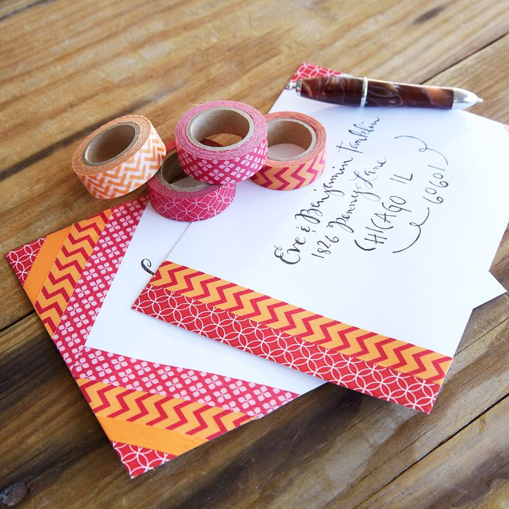 Washi Tape Decorated Envelopes