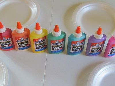 Designing with colored glue from Teach Preschool also if you add the colored glue to wax paper you can make window clings, how cool!!