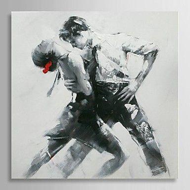 olieverfschilderij mensen tango danser met gestrekte kader met de hand beschilderd doek - EUR € 86.35