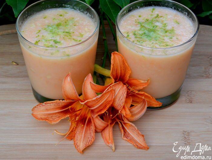 Квенчер - напиток из дыни. Оздоравливающий напиток на основе дыни и нежирного натурального йогурта с добавлением имбиря и лайма. #recipe #cookery #summer #advice