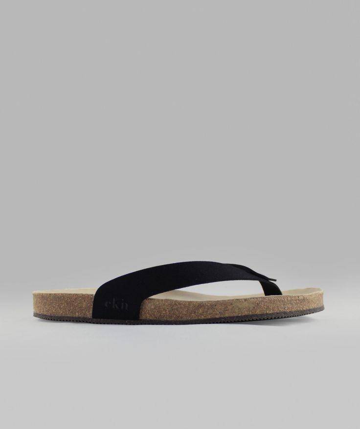 sandal / schwarz vegan / recycelte sohle