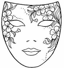 Afbeeldingsresultaat Voor Ausmalbilder Karneval Masken