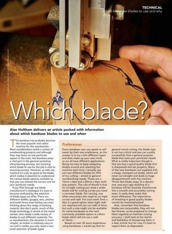 #196 Which Band Saw Blades to Use and Why - Band Saw Tips, Jigs and Fixtures