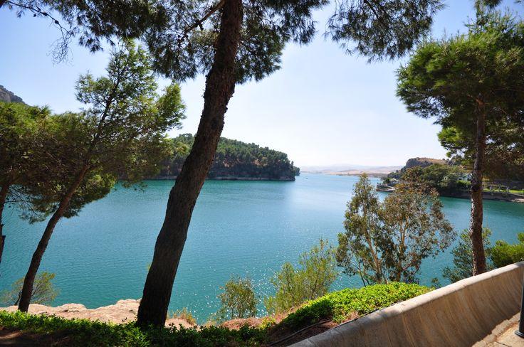 Lakes at El Chorro in Spain on a recent trip.  Beautiful!  #Spain #Alora #ElChorro