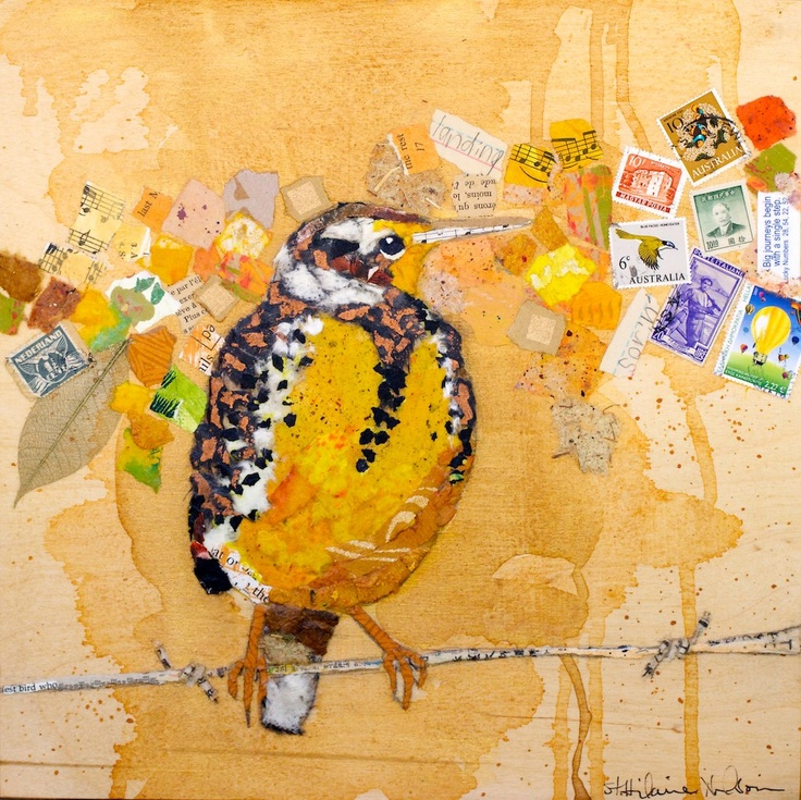 St. Hilaire Nelson....paper collage of birds!