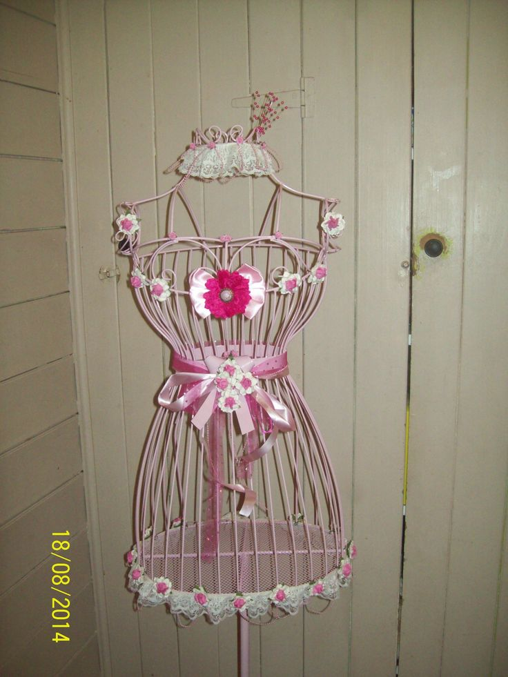 My Shabby Chic dress form make over,  by  Corinea  Neil.