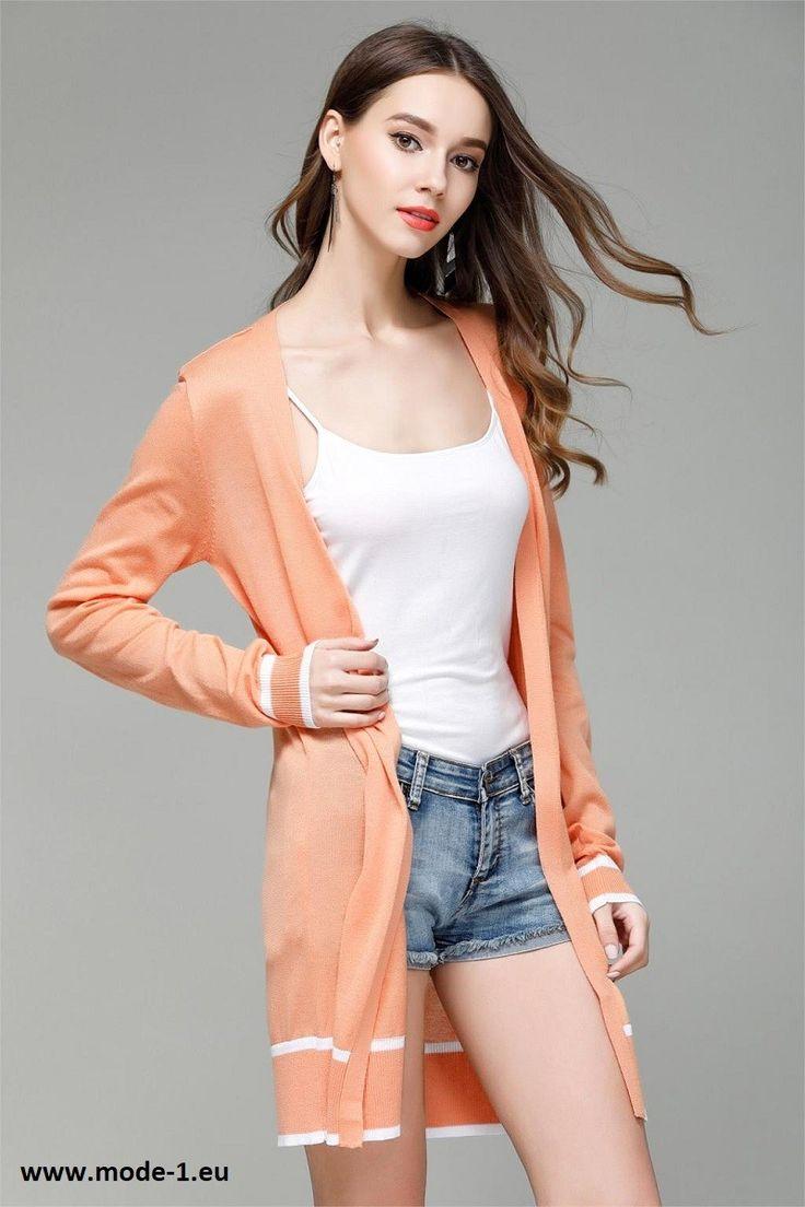 Damen Cardigan mit Applikationen in Orange