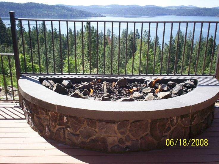This Semi Circle Shaped Fire Pit Is A Great Option When