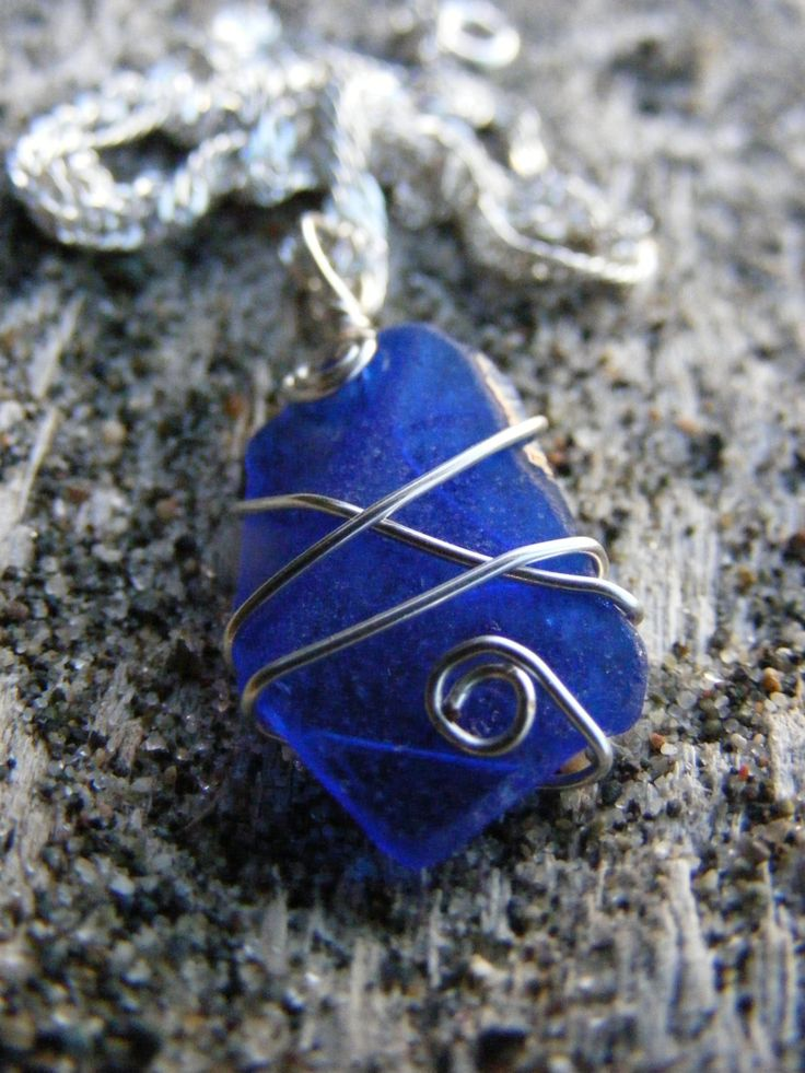 NEW! Cobalt Blue Sea Glass Necklace on Silver-plated Chain ***Use coupon code GRANDOPENING10 for $10 off until 08/20!***   #seaglass #beachglass #seaglassjewelry #beachglassjewelry #seaglassjewellery #cobaltblue #somethingblue #etsy