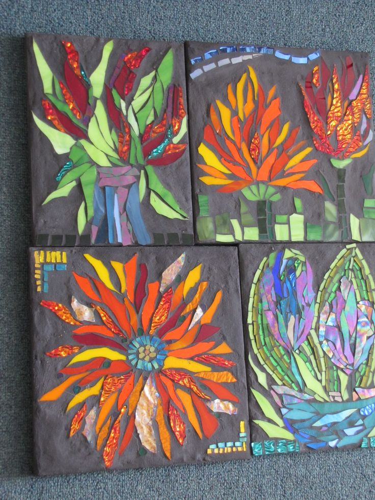 854 Best Mosaic Flowers Images On Pinterest Mosaic