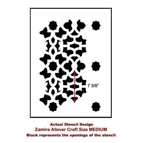 $22.95 Medium Cutting Edge Stencils - Zamira Craft Stencil